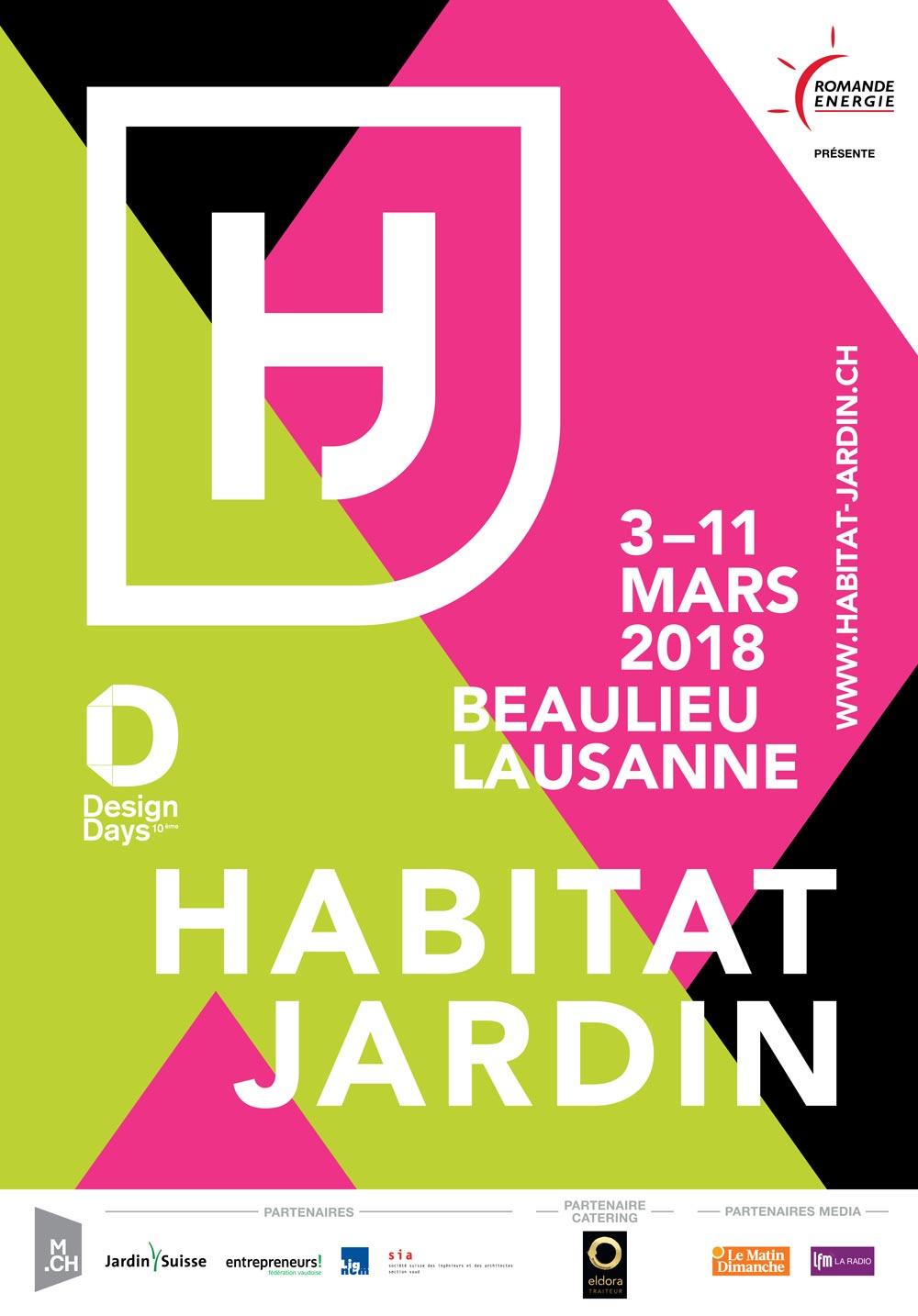 Poster salon Habitat et Jardin 2018