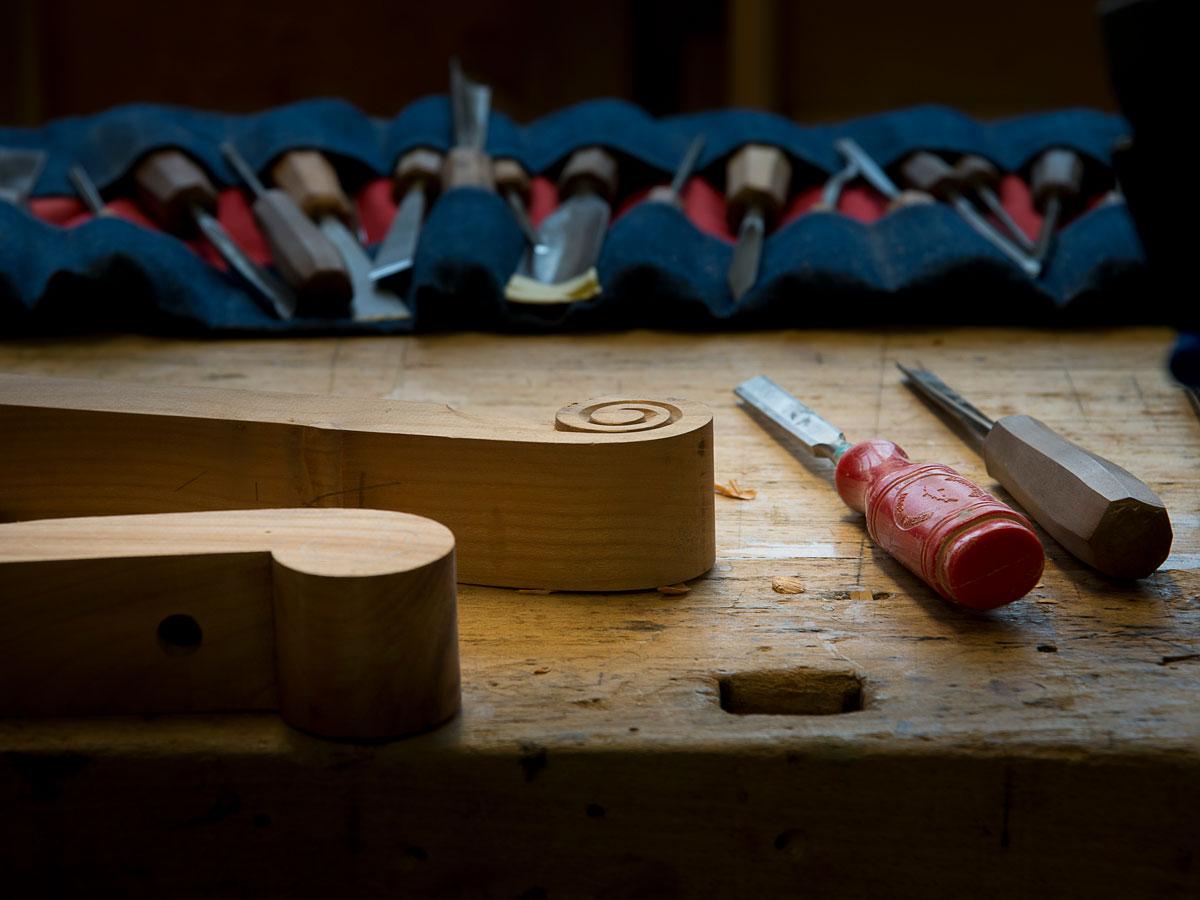 Outils de fabrication d'ébénisterie. Philippe Emery